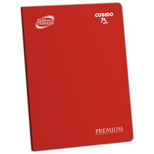Cuaderno Deluxe A-4 80H Croly  College Rojo