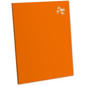 Cuaderno Deluxe A-4 80H Rayado  70G Loro Naranja
