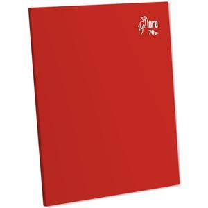 Cuaderno Deluxe A-4 80H Rayado  70G Loro Rojo