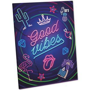 Cuaderno Deluxe 88 Hojas Rayado Diseño Mujer Oro