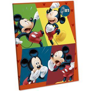 Cuaderno Deluxe 88 Hojas Rayado Mickey Y Minnie Loro