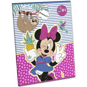 Cuaderno Deluxe 88 Hojas Triple Renglon Mickey Y Minnie Loro