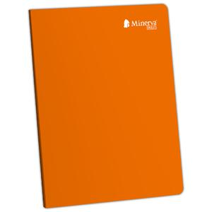 Cuaderno Deluxe A-4 92H Cuadriculado Scolor Minerva Naranja