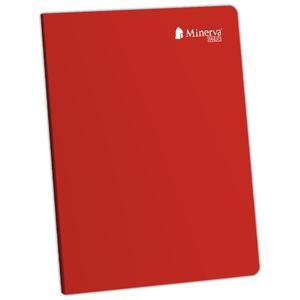 Cuaderno Deluxe A-4 92H Cuadriculado Scolor Minerva Rojo