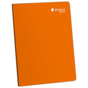 Cuaderno Deluxe A-4 92H Cuadriculado Teenmax Minerva Naranja