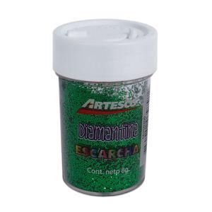 Diamantina Metálica 8Gr Verde Artesco