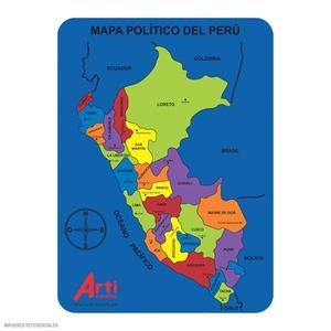 Encaje Microporoso Mapa Perú Arti Creativo