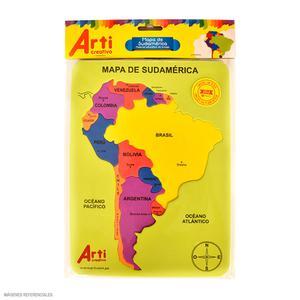 Encaje Microporoso Mapa Sudamerica