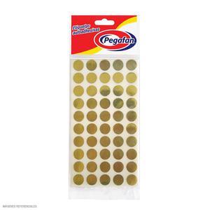 Etiqueta Pegafan Circular Dorado (Sbrx500)   096005152