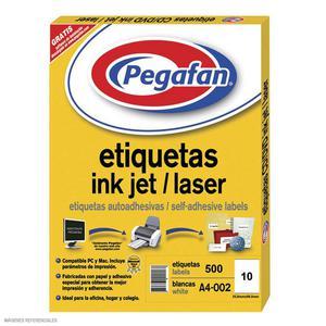 Etiqueta Pegafan Imp A4-2 56X99 2Fil(Pqx500) 014001422