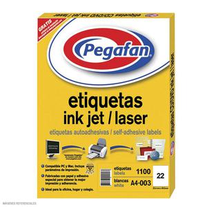 Etiqueta Pegafan Imp A4-3 2599 2Fi(Pqtx1100) 014001424