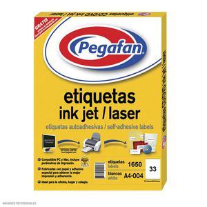 Etiqueta Pegafan Imp A4-4 2564 3Fi(Pqtx1650) 014001426
