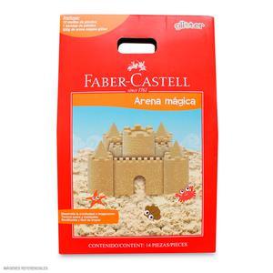 Faber Castell Arena Mágica Glitter 12 Moldes + Bandeja 370904