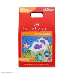 Faber Castell Arena Mágica Glitter Con 6 Moldes 370902