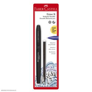 Faber-Castell Bolígrafo Erase It Negro + Rpto X 1