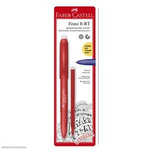 Faber-Castell Bolígrafo Erase It Rojo + Mina X 1