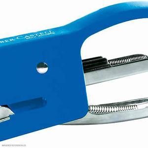 Faber-Castell Engrapador Metal 10 Hojas Azul