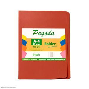 File Manila A4  Pqt X 25 - Rojo