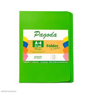 File Manila A4  Pqt X 25 - Verde Limon
