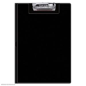 Folder Doble Tapa Con Sujetador Negro