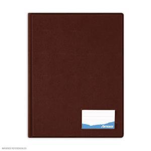 Folder Oficio Doble Tapa Con Gusano Marron Artesco