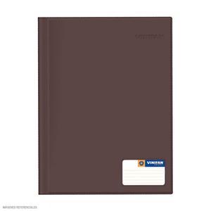 Folder Oficio Doble Tapa Con Gusano Marron Vinifan