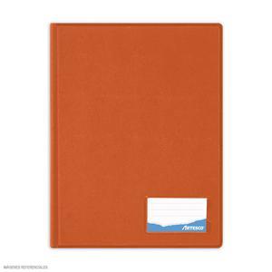 Folder Oficio Doble Tapa Con Gusano Naranja Artesco