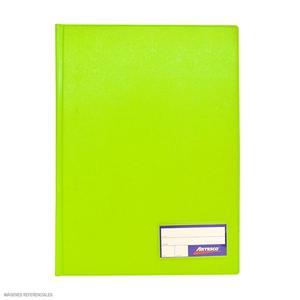 Folder Oficio Doble Tapa Con Gusano Verde Limon Artesco