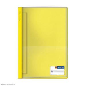 Folder Oficio Tapa Transp Con Fastener Amarillo Claro Vinifan
