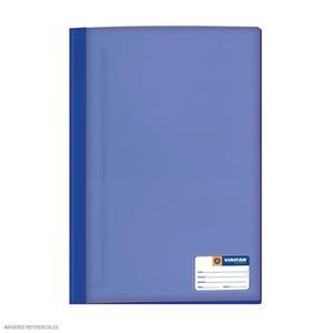 Folder Oficio Tapa Transp Con Fastener Azul Marino Vinifan