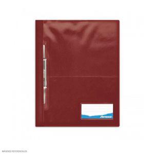Folder Oficio Tapa Transp Con Fastener Marron Artesco