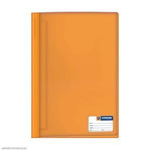 Folder Oficio Tapa Transp Con Fastener Naranja Vinifan
