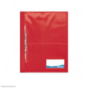 Folder Oficio Tapa Transp Con Fastener Rojo Artesco
