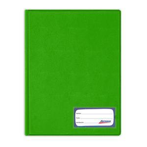Folder Oficio Doble Tapa Con Gusano Verde Hoja Artesco