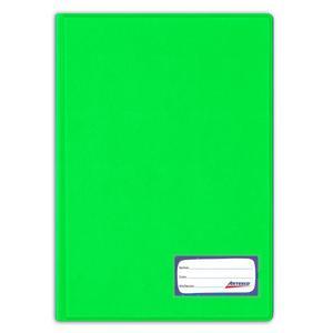Folder Oficio Doble Tapa Con Gusano Verde Limón Artesco