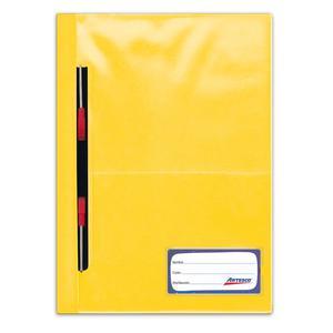 Folder Oficio Tapa Transp Con Fastener Amarillo Artesco
