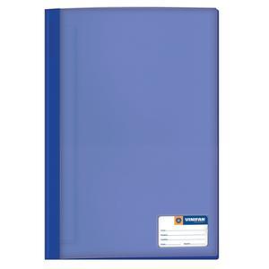 Folder Oficio Tapa Transp Con Fastener Azulino Vinifan