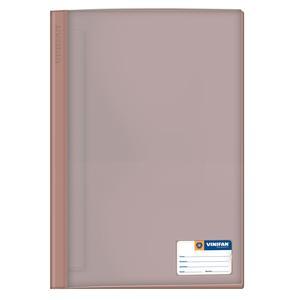 Folder Oficio Tapa Transp Con Fastener Marron Vinifan