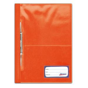 Folder Oficio Tapa Transp Con Fastener Naranja Artesco
