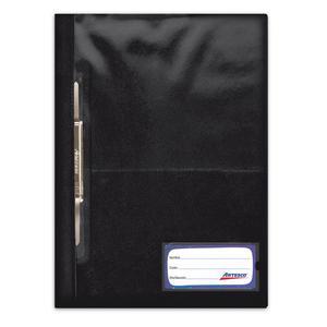 Folder Oficio Tapa Transp Con Fastener Negro Artesco