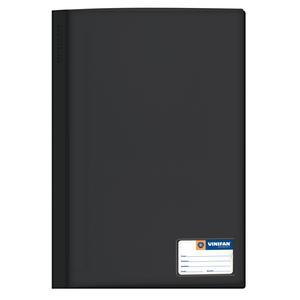 Folder Oficio Tapa Transp Con Fastener Negro Vinifan