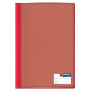 Folder Oficio Tapa Transp Con Fastener Rojo  Vinifan