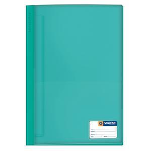 Folder Oficio Tapa Transp Con Fastener Turquesa Vinifan