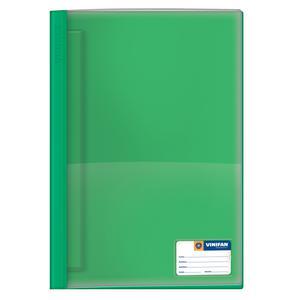 Folder Oficio Tapa Transp Con Fastener Verde Osc Vinifan