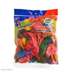 Globos N 9 Colores Surtidos Pastel Bolsa X 100