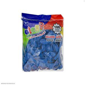 Globos Payaso/Olego N7 Azul(Pastel) Bolsa X100