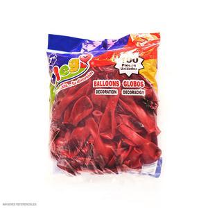 Globos Payaso/Olego N7 Rojo(Pastel) Bolsa X100