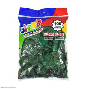 Globos Payaso/Olego N7 Verde(Pastel) Bolsa X100