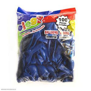 Globos Payaso/Olego N9 Azul(Pastel) Bolsa X100