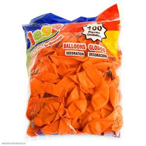 Globos Payaso/Olego N9 Naranja(Pastel) Bolsa X100